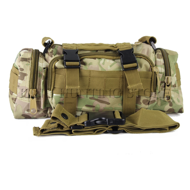 Multicam hunting climbing bags outdoor military tactical waist pack molle camping hiking pouch bag 600d waterproof