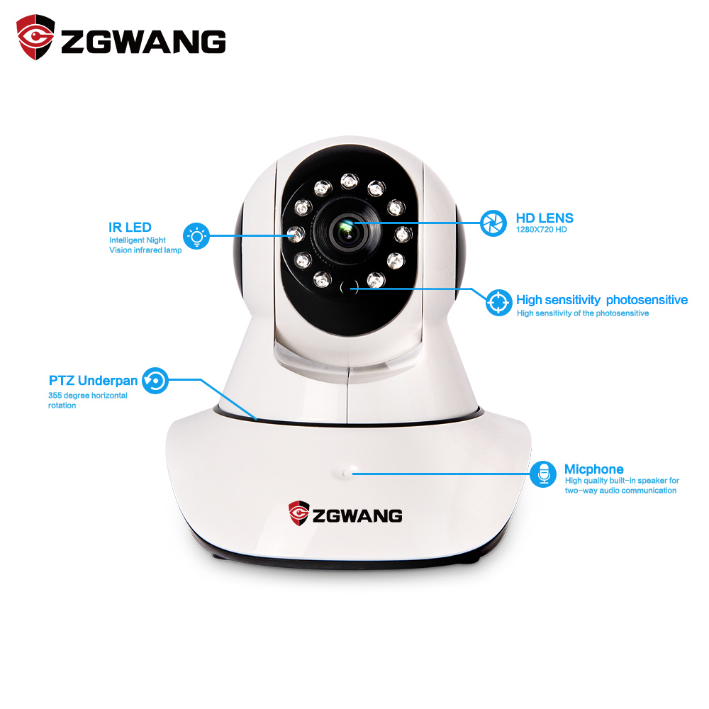 Network Wireless 720P Ip Camera Security Video Surveillance WIFI Baby Monitor With EU Plug 720p wifi ip network baby monitor camera miniature wireless camera detectors kids monitors