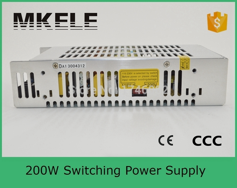 ФОТО 200w CE approved safe standards capable S-201-7.5 26.5A 201W single output metal case 7.5v ac dc switching model power supplies