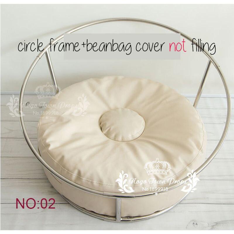 Newborn Studio Size Posing Pillow Newborn Poser Ottoman Beanbag Photo Prop Infant Poser 85cm Big Size Bean Bag+ Nest Round Shelf #5