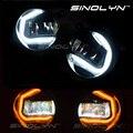 Led drl daytime running niebla luces de conducción de la lámpara retrofit angel eyes para ford/jeep/nissan/peugeot/suzuki/renault/lexus/mitsubishi