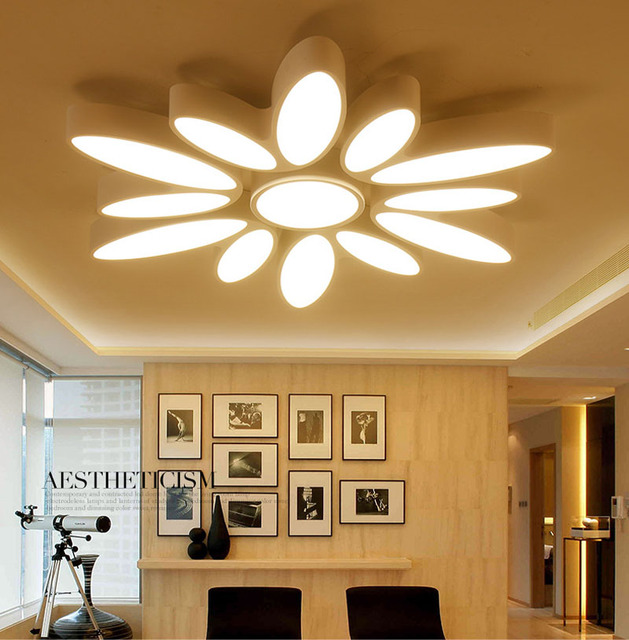 Ultra Thin Acrylic Chandeliers Ceiling Light Aluminum Lamp Super Bright Led Panel Luz De Teto Vermelho