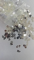 Wholesale Silver White Leopard Glitter Supplies For DIY Resin Nail Art Decoden Slime