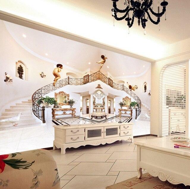 Graceful happy angels en pasillo escaleras fondo rollos for Papel tapiz de patron para el pasillo