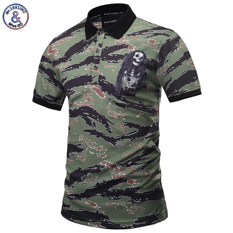 Mr.1991INC New Designed Camouflage   POLO   Shirts Men Summer Tops 3d Shirts Print Skulls Graphic 3d   Polo   Shirts