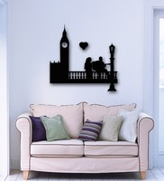 Free Shipping Wall Sticker Vinyl Decal Wall Stickers Vinyl Decal Romantic Couple in Love London England Home Decoration