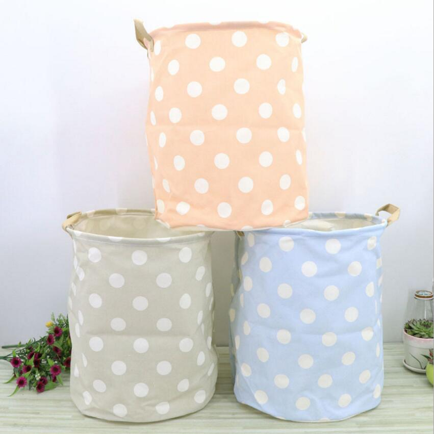 New Dots Large Laundry Hamper fold waterproof of Clothes <font><b>Storage</b></font> <font><b>Baskets</b></font> Home clothes barrel kids toy organizer <font><b>storage</b></font> <font><b>basket</b></font>