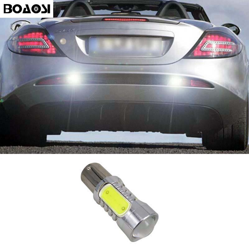 BOAOSI 1x White P21W BA15s 1156 LED Canbus Backup Reverse Light For Mercedes Benz w204 c class 2007-2014 wljh 2x canbus 20w 1156 ba15s p21w led bulb 4014smd car backup reverse light lamp for bmw 228i 320i 328d 328i 335i m3 x1 x4 2015