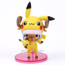 Anime One Piece Tony Chopper Pikachu PVC Figure Collectible Model Toy