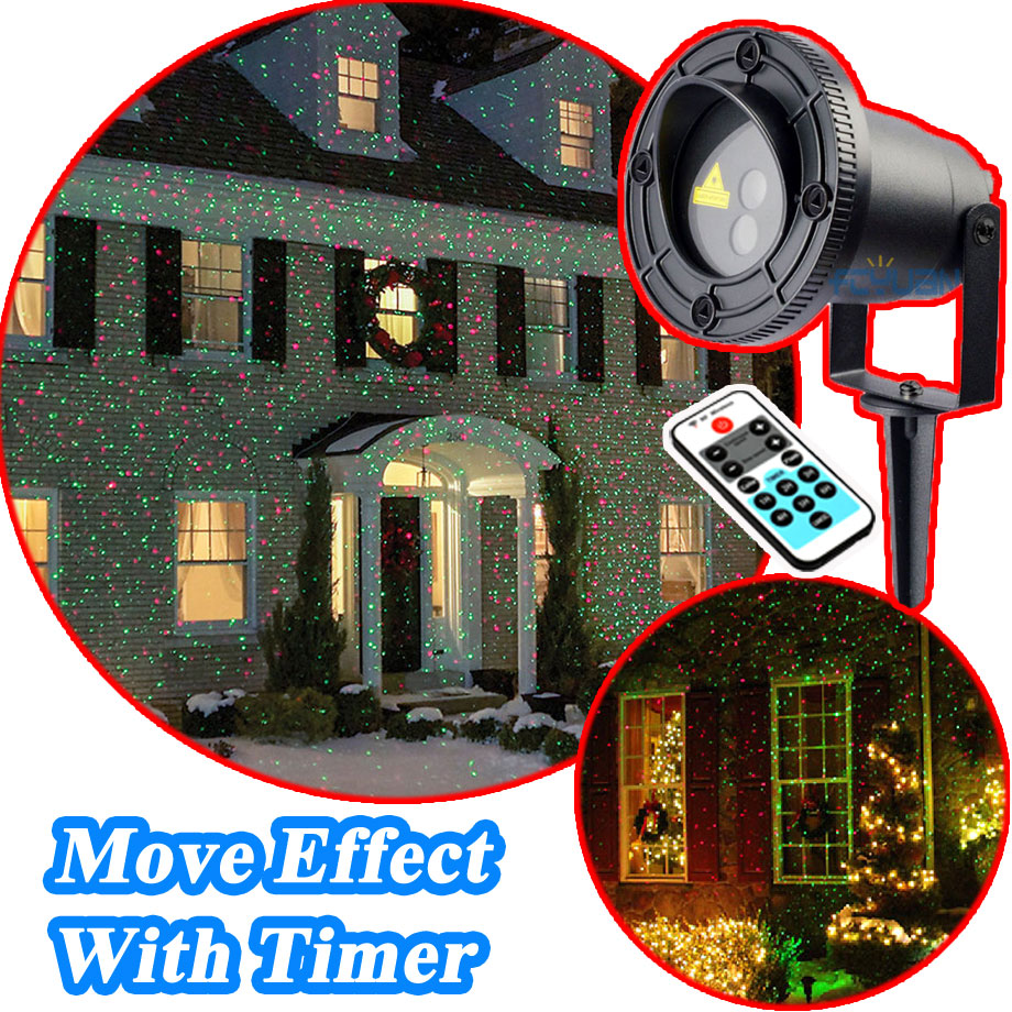 Christmas Lights Laser Shower Outdoor Watreproof Red Green Move Twinkle With Timer New Year Christmas Decorations