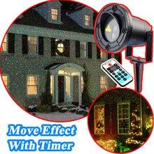 Рождественские Огни Лазерный Душ Открытый Watreproof Красный Зеленый Перемещение Мерцание С Таймер Новый Год Рождественские Украшения Для дома