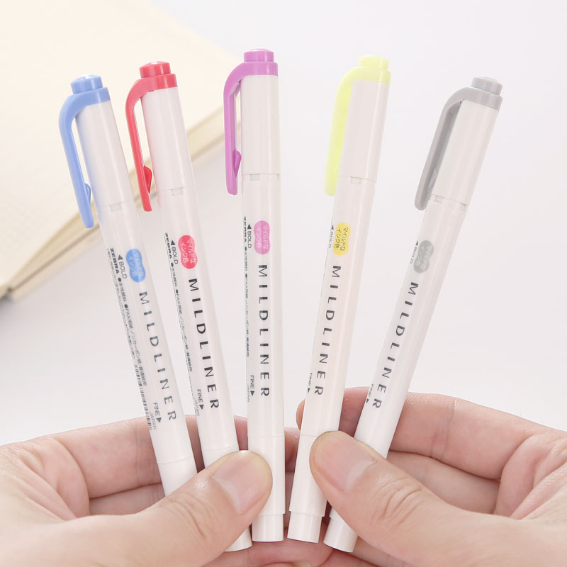 Clearance Sale¹Marker-Pen Highlighters Mild-Liner Double-Headed Creative Japan Zebra Kawaii Fluorescent-Pen