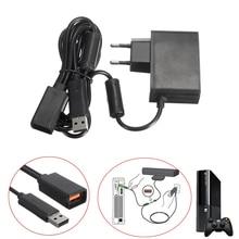 DC 12V 100V~ 240V 50/60 Гц US/EU USB адаптер переменного тока Питание кабель, адаптер для зарядки Зарядное устройство для xbox 360 xbox 360 игровой Кинект-Сенсор