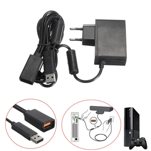 DC 12V 100V~240V 50/60 Hz US/EU USB AC Adapter Power Supply cable Charging Adapter Charger for Xbox 360 XBOX360 Kinect Sensor