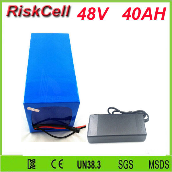 Free Customs taxes shipping Electric Car/Golf Car/Forklift Battery Pack 48V 40Ah 2000W Lithium ion  Battery Storage With 50A BMS free customs taxes high quality skyy 48 volt li ion battery pack with charger and bms for 48v 15ah lithium battery pack