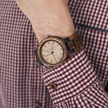 relogio masculino BOBO BIRD Men Watch Wooden Business Auto Date Week Display Timepiece Relogio Customize Logo U-O26