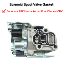 Solenoid Spool Valve Gasket For VTEC Solenoid Accessories For Acura RSX Honda Accord Civic Element CRV new solenoid assy transmission dual linear solenoid for honda civic 2006 2011 oe 28260rpc004 28260 rpc 004 qp0321