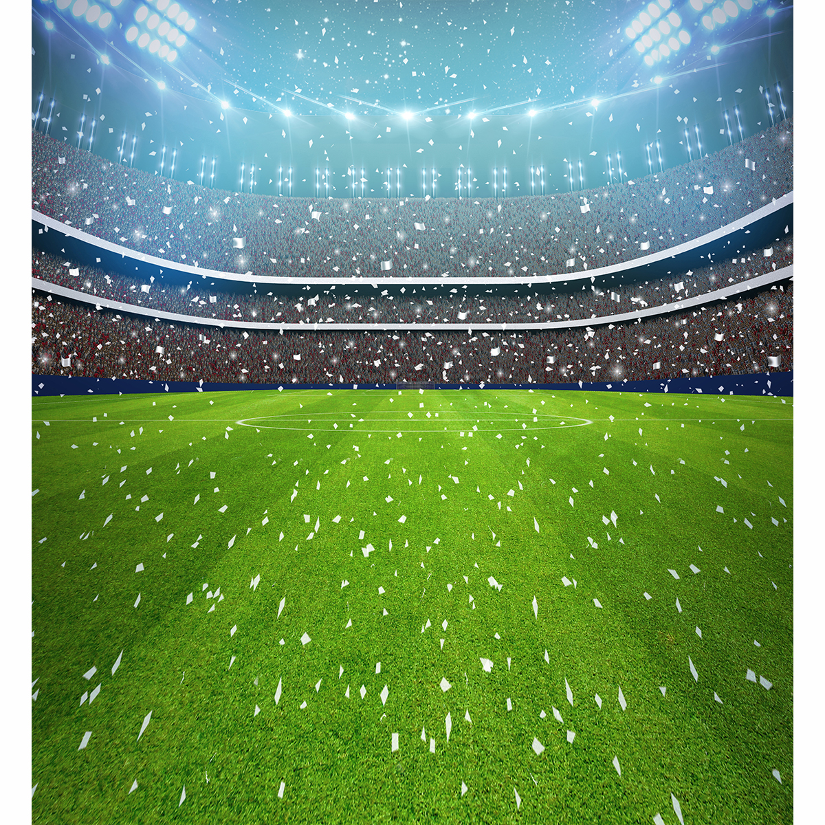 Football Stadium Lights Fireworks Photography Background