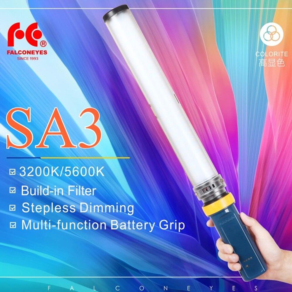 Сокол Средства ухода для век saber3 LED фото видео непрерывного света 15 Вт 3200/5600 К высокое cri95 затемнения Мощность Выход ручной свет stick