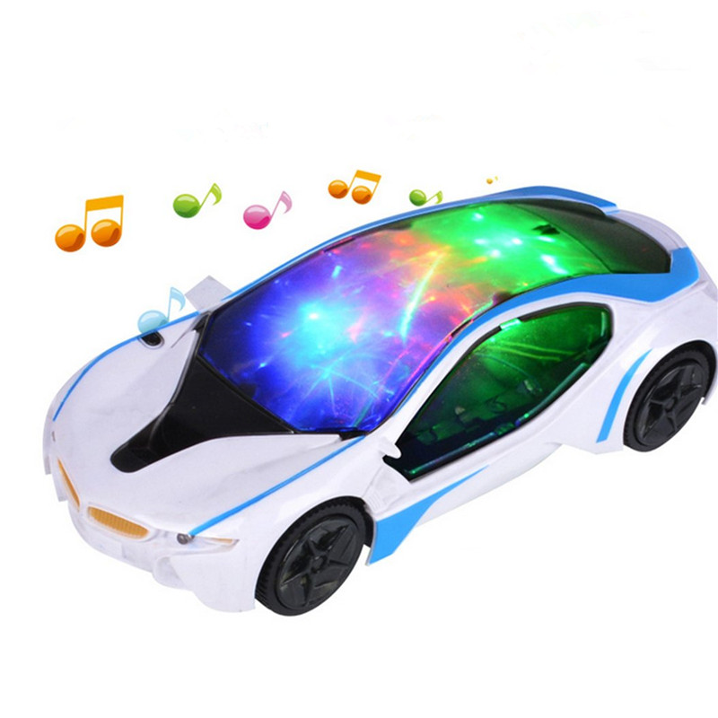 цена на Cool Universal LED Light Music Electric Flashing Cars Toys For Children Early Educational Sound Car Toys Boys New Year Gift
