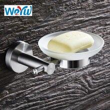 WEYUU 304 Stainless Steel Soap Dish Brushed Nickel Soap Basket  Holder Wall Mounted Soap Basket  Holder Bathroom Accessories