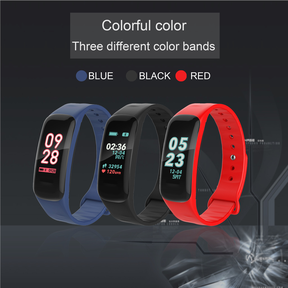TREZER C1P Fitness Bracelet Heart Rate Monitor Color Screen Blood Pressure Measurement Smart Wristband for IOS Android Phone (3)
