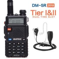 2018 Baofeng DM 5R PLUS Tier I Tier II Digital Walkie Talkie DMR Two Way Radio
