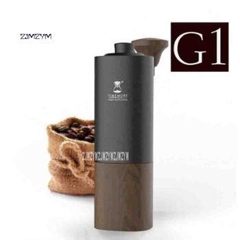 ZJMZYMコーヒー豆グラインダーTGD13WD G1チタンプロフェッショナルハンドコーヒーグラインダー家庭用ポータブル手動グラインダー25グラム熱い販売現代の手動コーヒーグラインダー