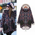 Best Selling Female long Plus Size 5XL Velvet Thickening Warm Sweatshirt Hoodie Women Printed Plaid Hooded Hoodies For Female