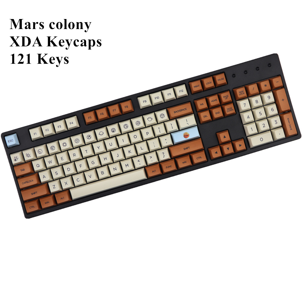 Mars Colony Profile XDA Keycap 121 Keys Dye Sublimated For MX Switches Mechanical Keyboard Keycaps