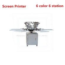 1Set 6 color 6 station T-shirt screen printing machine comeswith base good quality