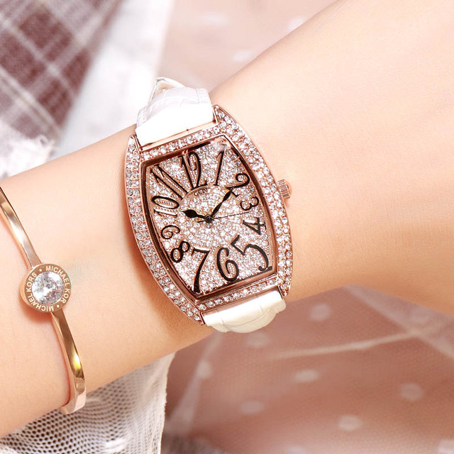 GEDI 2019 Luxury Brand Lady Crystal Watch Women Dress Watch Fashion Rose Gold Quartz Watches Female Stainless Steel Wristwatches | Fotoflaco.net