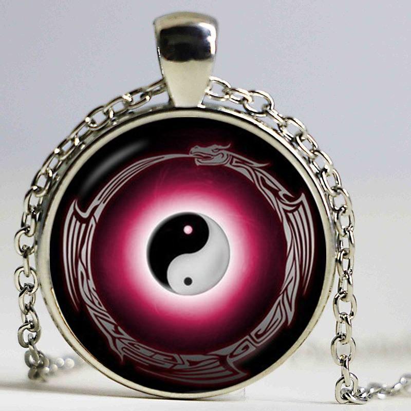 Yin Yang վզնոց Tai Ji կախազարդ սպիտակ սև - Նորաձև զարդեր - Լուսանկար 5