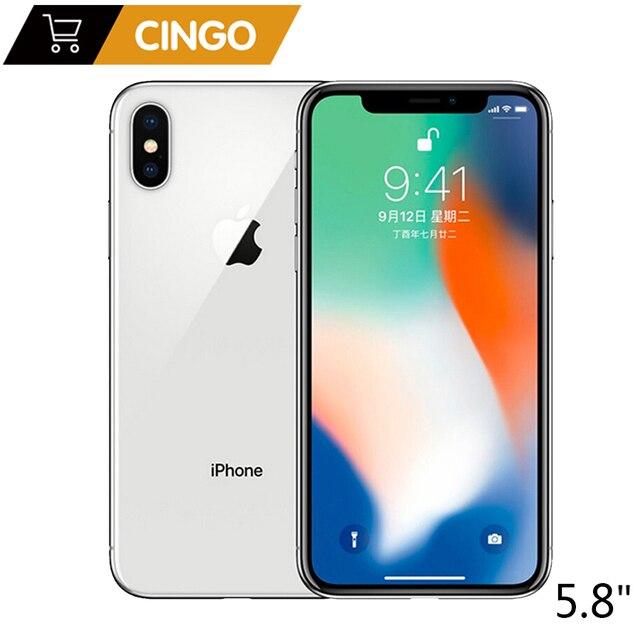 "Originele Apple Iphone X 3Gb Ram 64Gb 256Gb Rom 5.8 ""Ios Hexa Core 12.0MP Dual Back camera Unlocked 4G Lte Mobiele Telefoon"