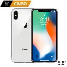 "Telefono cellulare originale Apple iPhone X 3GB RAM 64GB 256GB ROM 5.8 ""iOS Hexa core 12.0MP Dual Back Camera sbloccato 4G LTE"