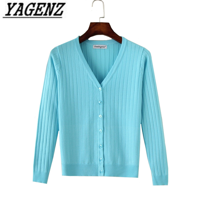 Spring Autumn New Knitwear Women Sweater Coat Korea Slim Candy Colors V Neck Thin Cardigan Plus Size 4XL Casual Lady Knit Tops