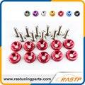 Rastp-10 pcs/pack jdm estilo fender anilhas e parafusos de alumínio para honda civic integra rsx ek eg dc ls-qrf002
