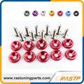 Rastp-10 pcs/pack jdm style fender arandelas y pernos de aluminio para honda civic integra rsx ek eg dc ls-qrf002