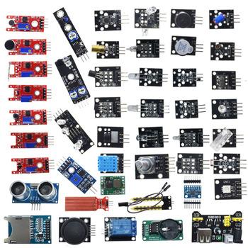 Dla arduino 45 w 1 czujniki moduły zestaw startowy lepiej niż 37in1 zestaw czujników 37 w 1 zestaw czujników UNO R3 MEGA2560 tanie i dobre opinie WAVGAT CN (pochodzenie) Nowy Sensors Modules 45 in 1 Sensors Modules -40°-+85° 3-5V