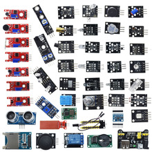 עבור arduino 45 ב 1 חיישני מודולים Starter ערכת טוב יותר מ 37in1 חיישן ערכת 37 ב 1 חיישן ערכת UNO r3 MEGA2560