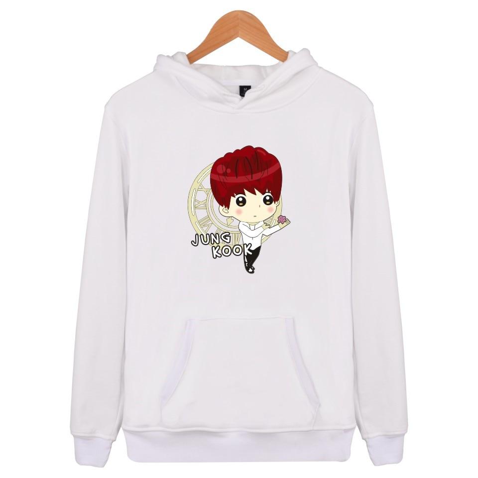 Kpop BTS Sweatshirt Men Capuz Winter Casual Fans Clothes Women Korean Popular Bangtan Hip Hop Hooded Hoodies