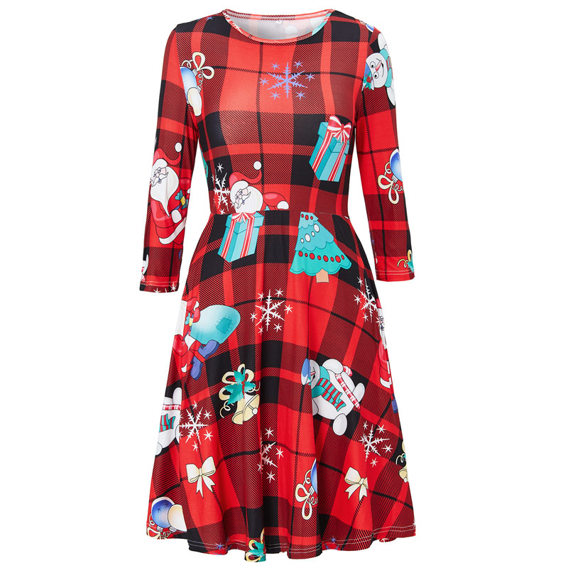 US $9.99 |Large Size Winter Women Dresses Casual Cute Printed Ugly  Christmas Dress Casual 2019 Loose Party Short Dress Plus Size Vestidos-in  Dresses ...