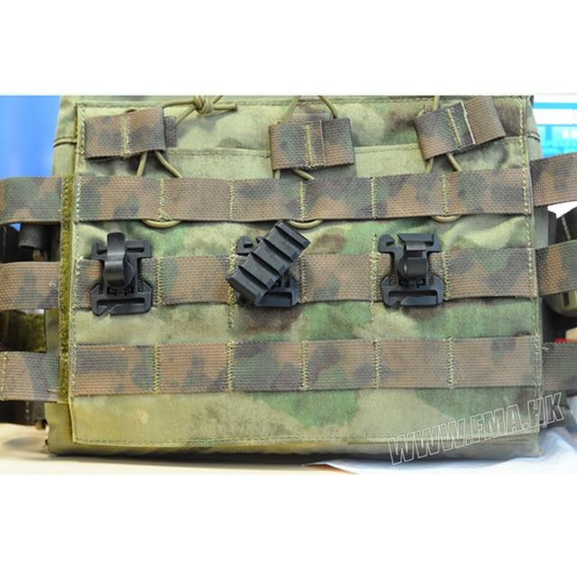 FMA tactique chasse 3 Type adaptateur de gilet Molle pour sangle 25mm polyvalent Rail montage Tube tuyau pince