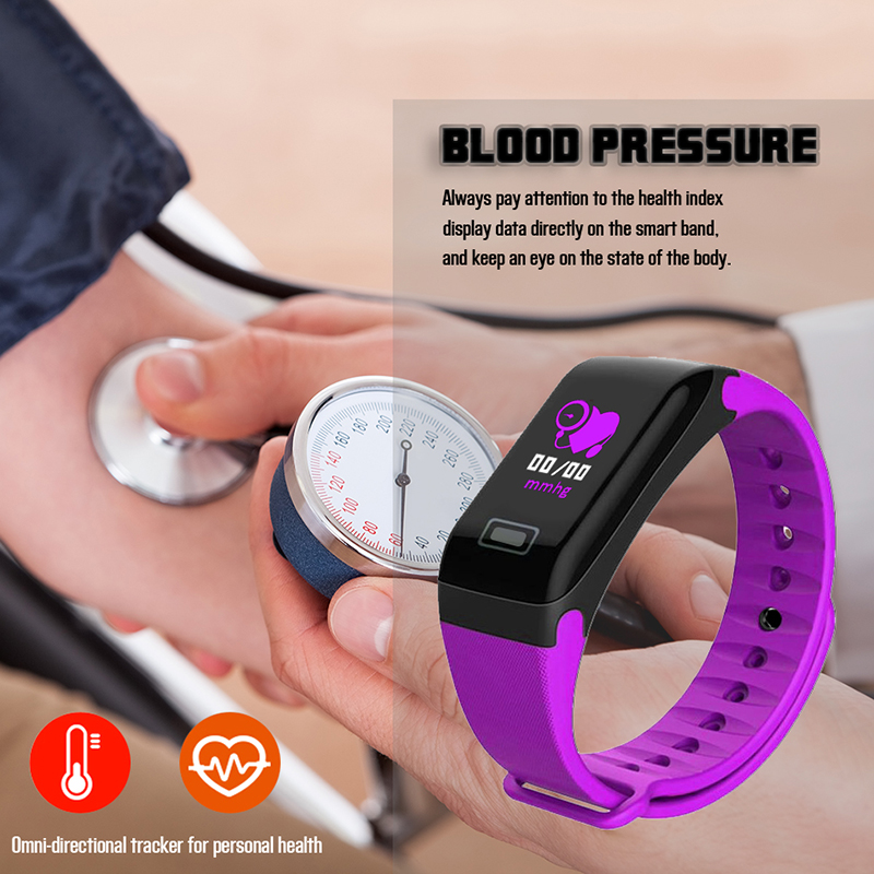 LIGE Smart Bracelet Men Pedometer Fitness Sport Watches Heart Rate Blood Pressure oxygen Sleep Monitor Wristband For IOS Android in Smart Wristbands from Consumer Electronics