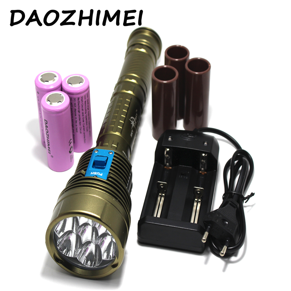 Diver underwater flashlight, diving 18000 LM XM 7xl2 defensive flashlight hunting tactic outdoors camping lamp light torchDiver underwater flashlight, diving 18000 LM XM 7xl2 defensive flashlight hunting tactic outdoors camping lamp light torch