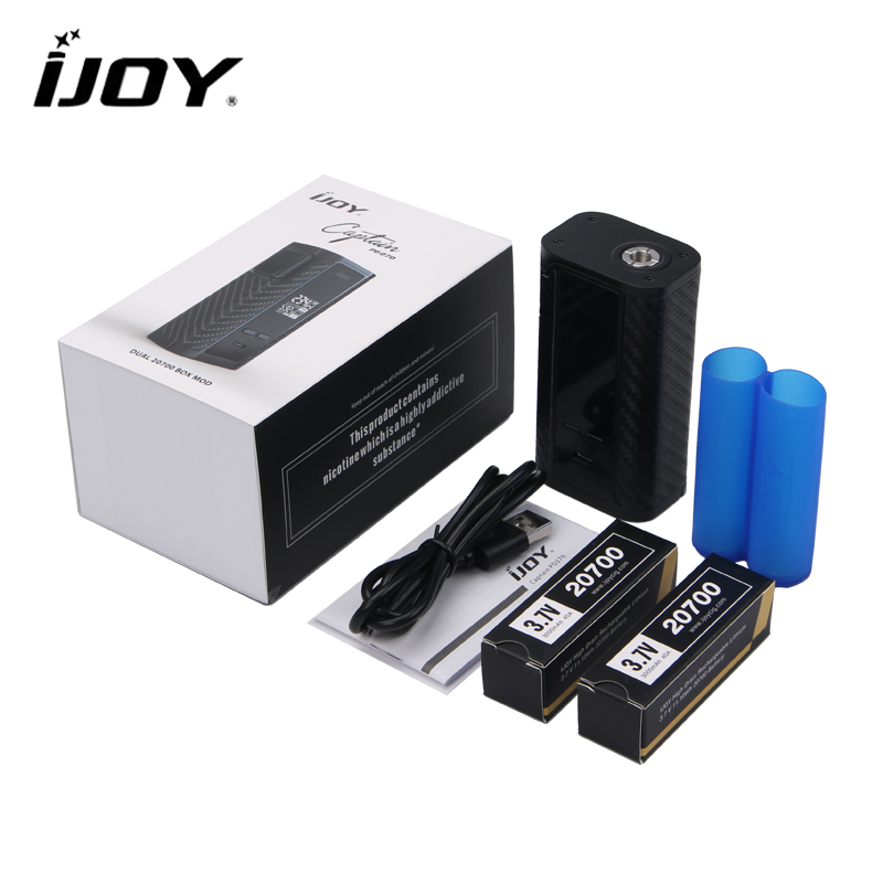 Original IJOY Captain PD270 e-sigarette Box MOD 234W Electronic Cigarette Power by Dual 20700 Battery NI/TI/SS TC Vaper Pipe MOD original ijoy captain pd270 box mod 234w ni ti ss tc electronic cigarette vaper power by dual 20700 vape mod vaporizer atomizer
