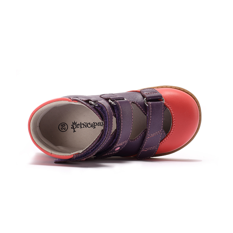 Princepard flambant neuf enfants chaussures d'été crochet boucle fermé orteil enfant en bas âge filles sandales orthopédique sport en cuir véritable bébé filles - 5