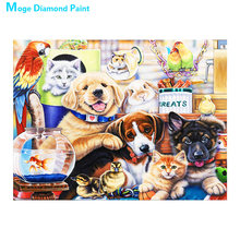 dog and cat Diamond Painting Full Round animals New DIY Sticking Drill Cross Embroidery 5D cartoon simple Home Decoration dog and cat diamond painting full round animals new diy sticking drill cross embroidery 5d cartoon simple home decoration