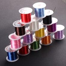 1 рулон 10 м Multi-Цвета сильный эластичный Эластичный Бисер провод/шнур/String/резьба для DIY браслеты ювелирных изделий