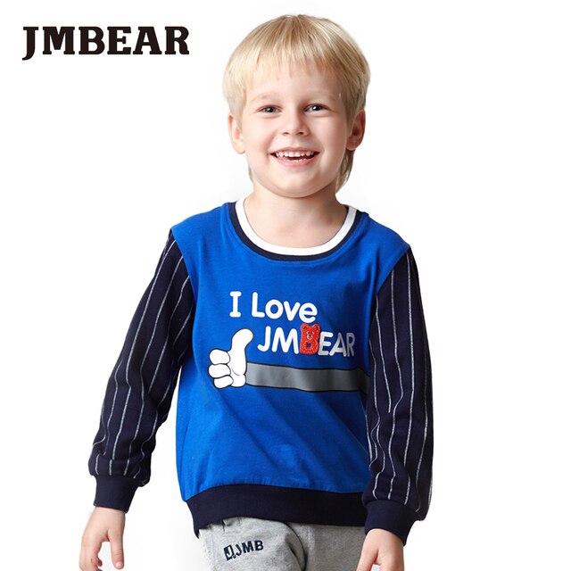 JMBEAR 2-6 лет мальчики хлопок футболки девушки топы О-Образным Вырезом дети футболка мультфильм одежда для детей 2016 новый мода
